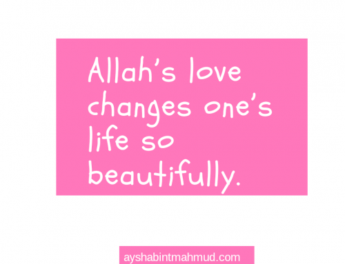 Fall in love with Allah